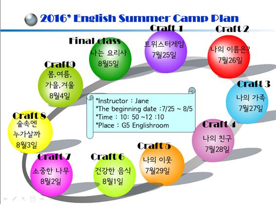 영어캠프 수업일정2